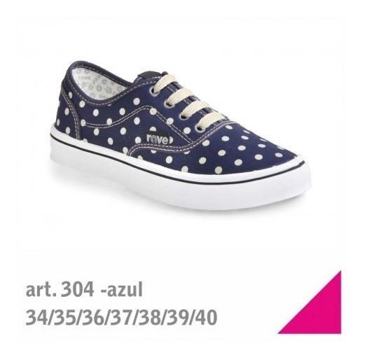Art. 304 - Azul A Lunares - Talle 38.