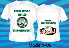 Kit 2 Camisetas Personalizadas Gestante Papai Menino Menina
