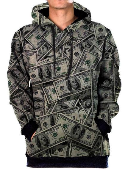 Blusa Sintético Bolso Lateral Money Tumblr Swag Dollar Kash