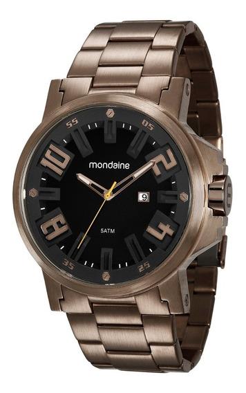 Relógio Masculino Mondaine Aço Cobre Big Case 99233gpmvms7
