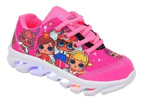 Tenis Infantil De Led Luzinha Princesa Lol Para Crianças