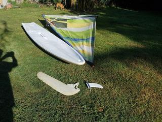 Equipo Windsurf Principiantes 280 Litros Con Orza