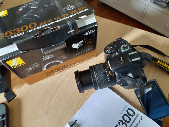 Câmera Nikon D5300 +af-p Nikkor Dx Vr 18-55mm Na Caixamanual