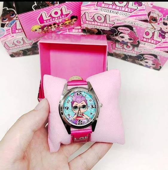 Relógio Infantil Lol Surprise Com Caixa Personalizada.