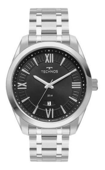 Relógio Technos Aço Masculino 2115mxm/1p Preto