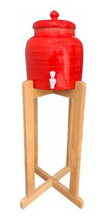 Portagarrafon Ceramica Color Rojo 10 Lts
