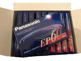 Lote X 10 Cassette Panasonic Ep60