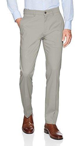 Pantalon Casual De Hombre Haggar Premium No Iron Khaki Slim