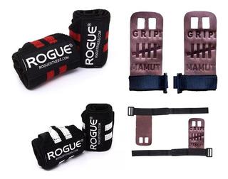 Kit Rogue + Mamut Crossfit - Munhequeira Rogue E Grip Mamut