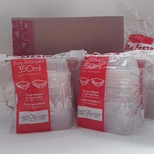 Pote Plastico Marmita Ret 350 Ml 144 Un Micro Freezer Cd8308