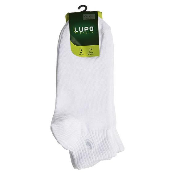 Meia Lupo Au Sport Cano Curto Adulto Kit C/ 3 Unid. Original