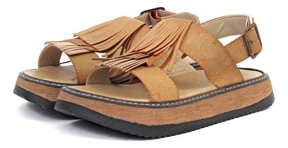 Sandalias Mujer Brigida Cuero Ecologico
