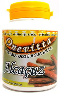 Pau-doce Alcaçuz, Cápsulas/500mg 100%natural Kit 36 Potes