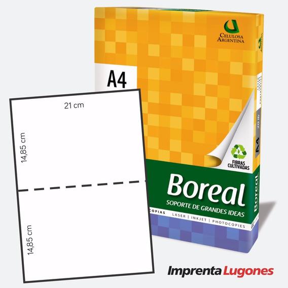 Papel A4 Troquelado - Hojas Micropuntilladas Al Medio