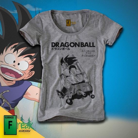 Remera Dragon Ball Manga Goku Mujer