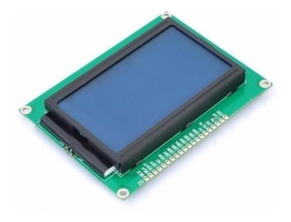 Display Gráfico Lcd 128x64 Azul Pic Arduino