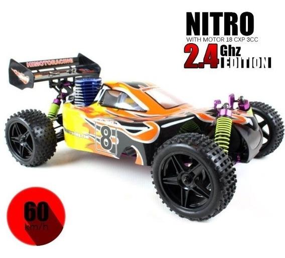 Automodelo Himoto Combustão 2 Marchas 4x4 Brinde Kit Starter