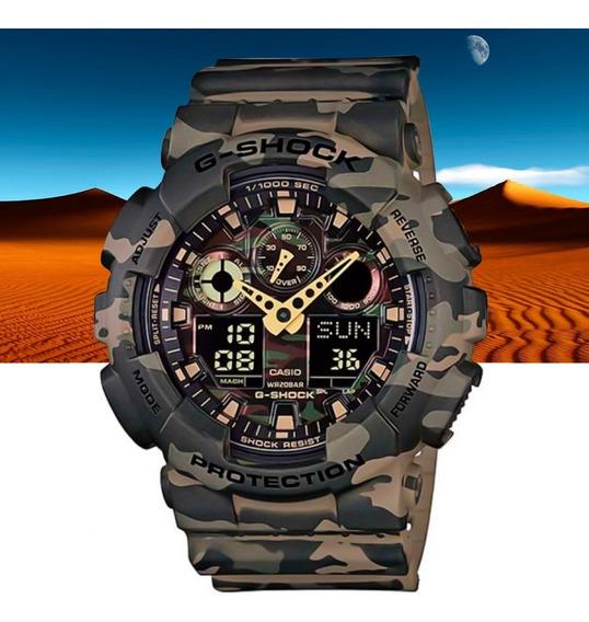Relógio Casio G-shock Analóg Digital Ga-100cm-5adr Camuflado