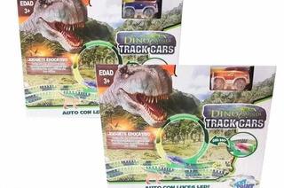 Pista Luminosa Dino Mundi Dinosaurios Encastrable C/auto Led
