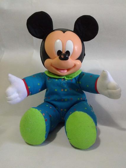 Boneco Mickey Baby Macacão Azul Multibrinky