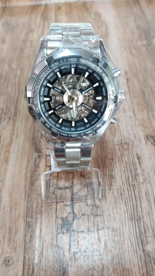 Relógio Forsining Masculino Automático Prata Original