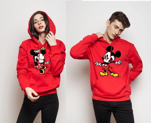 Buzos Chompa Personalizado Parejas Novios Mickey Minie Mouse