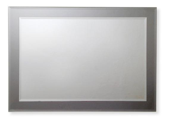Espejo Reflejar Rectangulo Vertical Horizontal Base Gris