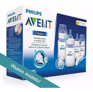 Avent Philips Set Recien Nacido Mamaderas + Chupete - Bebes - Kit Baby Inicial - Regalo Mama - Libre Bpa - Alimentacion