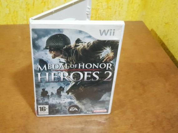 Medal Of Honor Heroes 2 Europeu Usado Nintendo Wii.