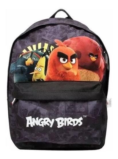 Mochila Infantil Bolsa Escolar Angry Birds Menino