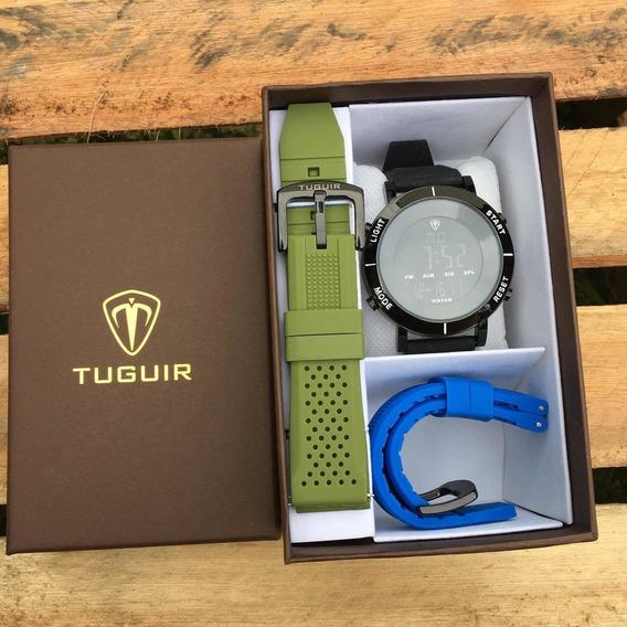Relógio Masculino Tuguir Digital + 3 Pulseiras Grátis Top