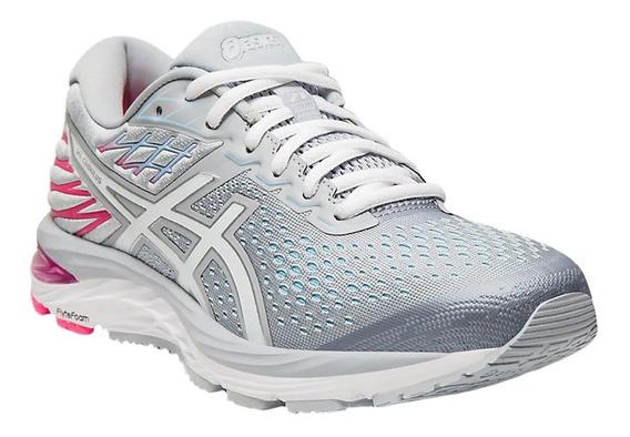 Zapatillas Asics Gel Cumulus 21 W De Mujer Gris Para Running