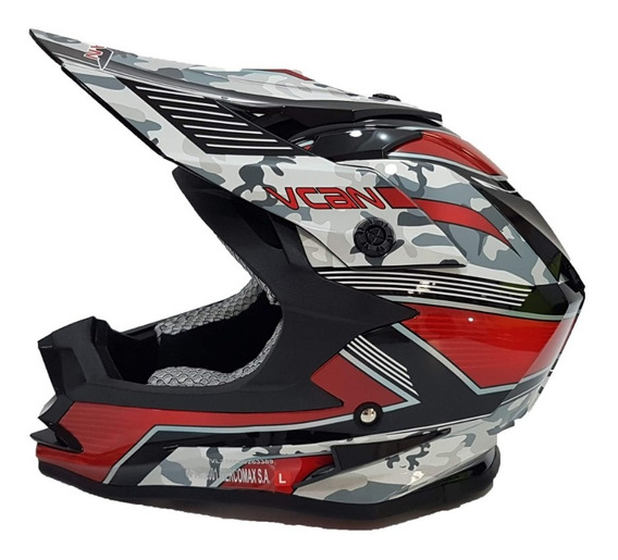 Casco Moto Cross Enduro Vcan V321 Solomototeam