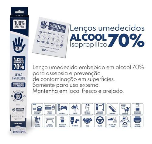 Caixa De Lenço Umedecido Em Alcool Isopropilico 70% 100 Uni