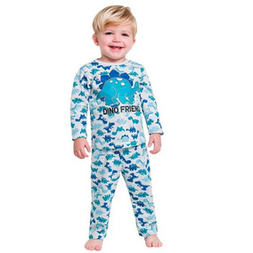 cf0be2d0d8 Pijama Infantil Menino Manga Longa Cinza Dinossauro Kyly