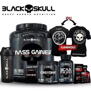 Combo Black Skull Melhor Preço Do Mercado