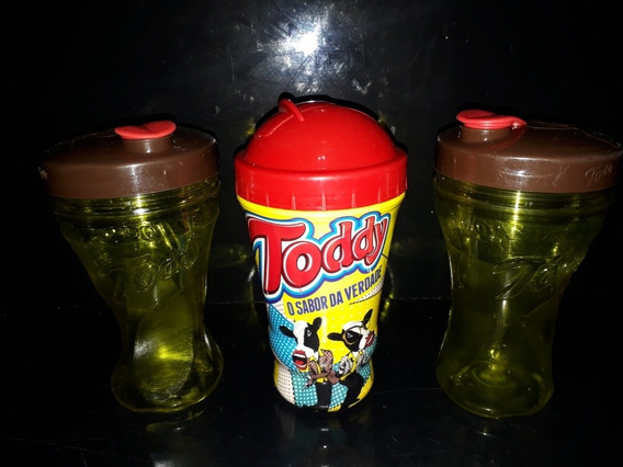 Lote 3 Copos Squezze Promocional Achocolatado Toddy Antigo
