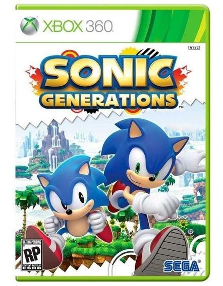 Sonic Generations Xbox 360 Mídia Física Novo Lacrado