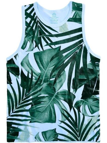Camiseta Regata Adulto Full Print Floral Tamanhos Especiais