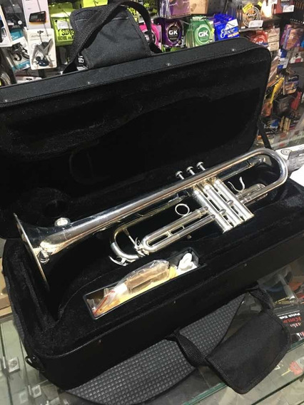 Trompeta Besser Tr01 Plateada Pro Estuche