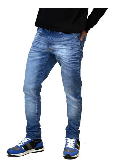 Jean Elastizado Moda Slim Fit Hombre Mistral 15107