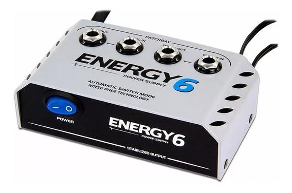 Fonte 6 Pedais Landscape Energy E6 Patchbay +cabos 9v 1000ma