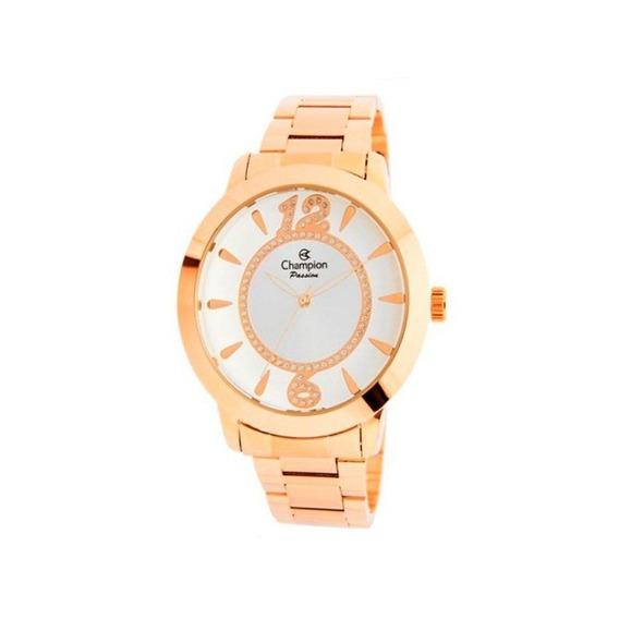 Relógio Champion Feminino Casual Ouro Rosê Cn24259z