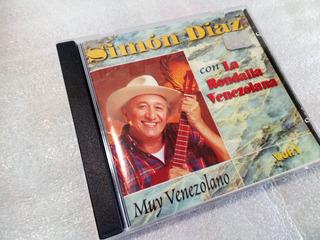 Disco Cd Simón Diaz Muy Venezolano Y La Rondalla Venezolana