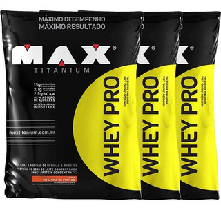 Whey Pro - 4500g - Max Titanium - Refil