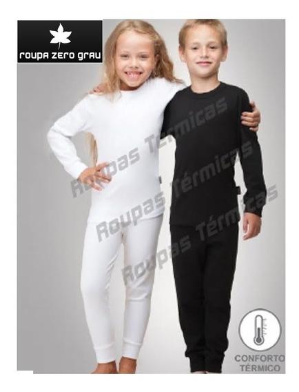 2 Cj Térmico Peluciado Blusas Calças Infantil Criança