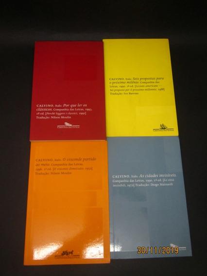 Lote 4 Livros Italo Calvino O Visconde Partido Ao Meio ...