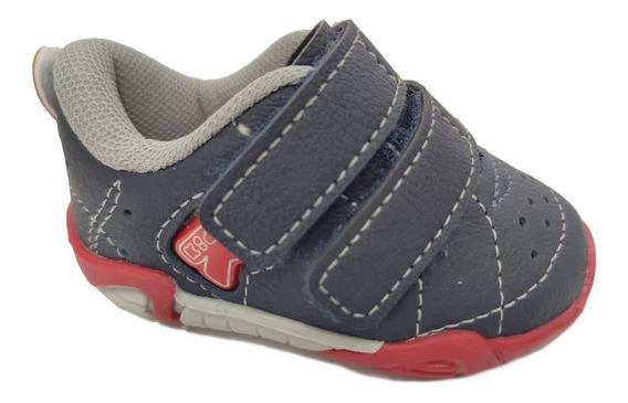 Tenis Kidy 008-0497-1049 Azul Marinho De Velcro