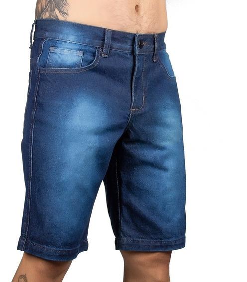 Shortes Jeans Bermuda Sarja Masculina Kit C/3 + Brindes
