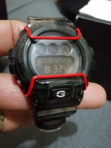 Reloj Casio G Shock 6900 MilitarTransparente Color Humo